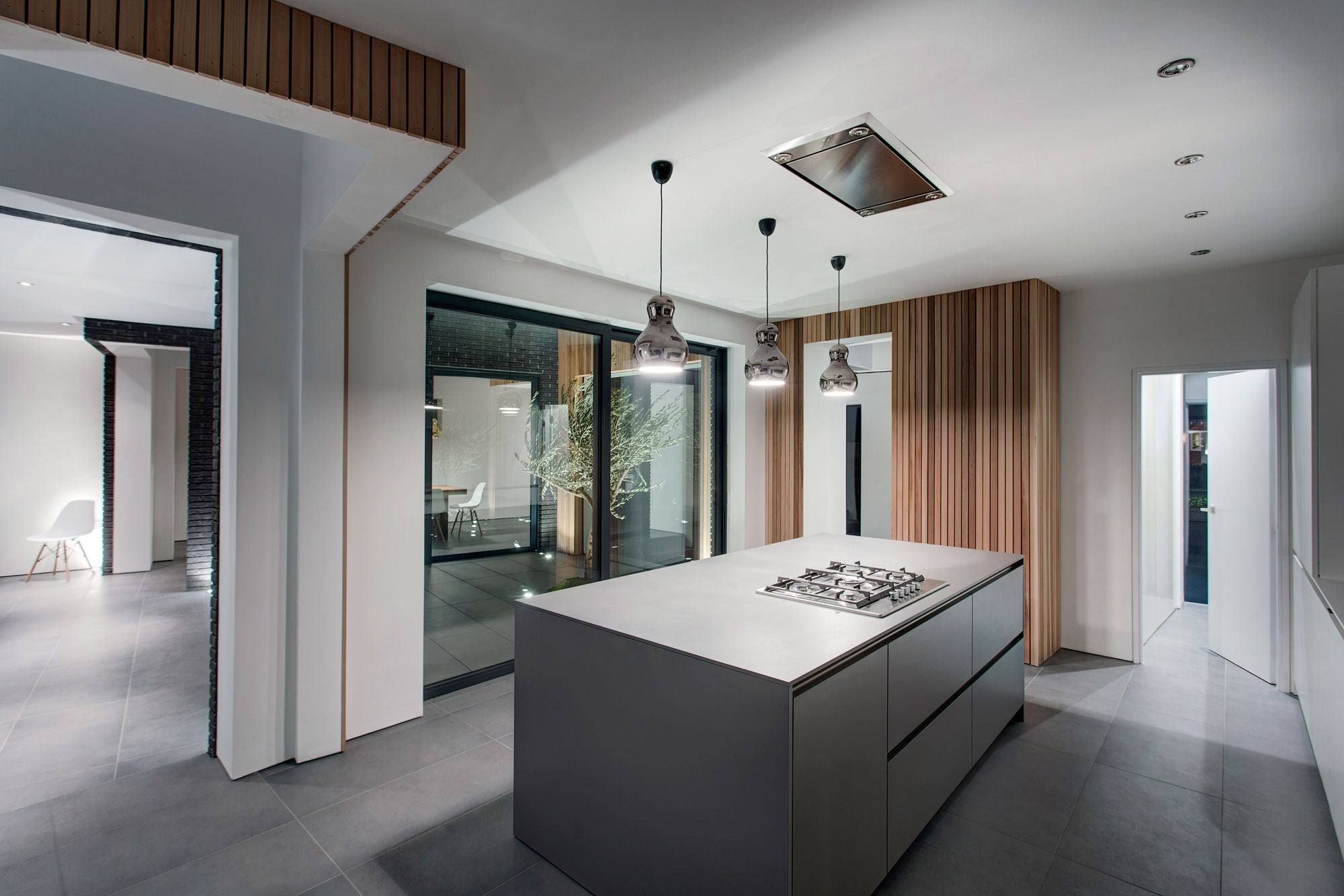 modern kitchen lights pantry storage island pendant home in hampshire england