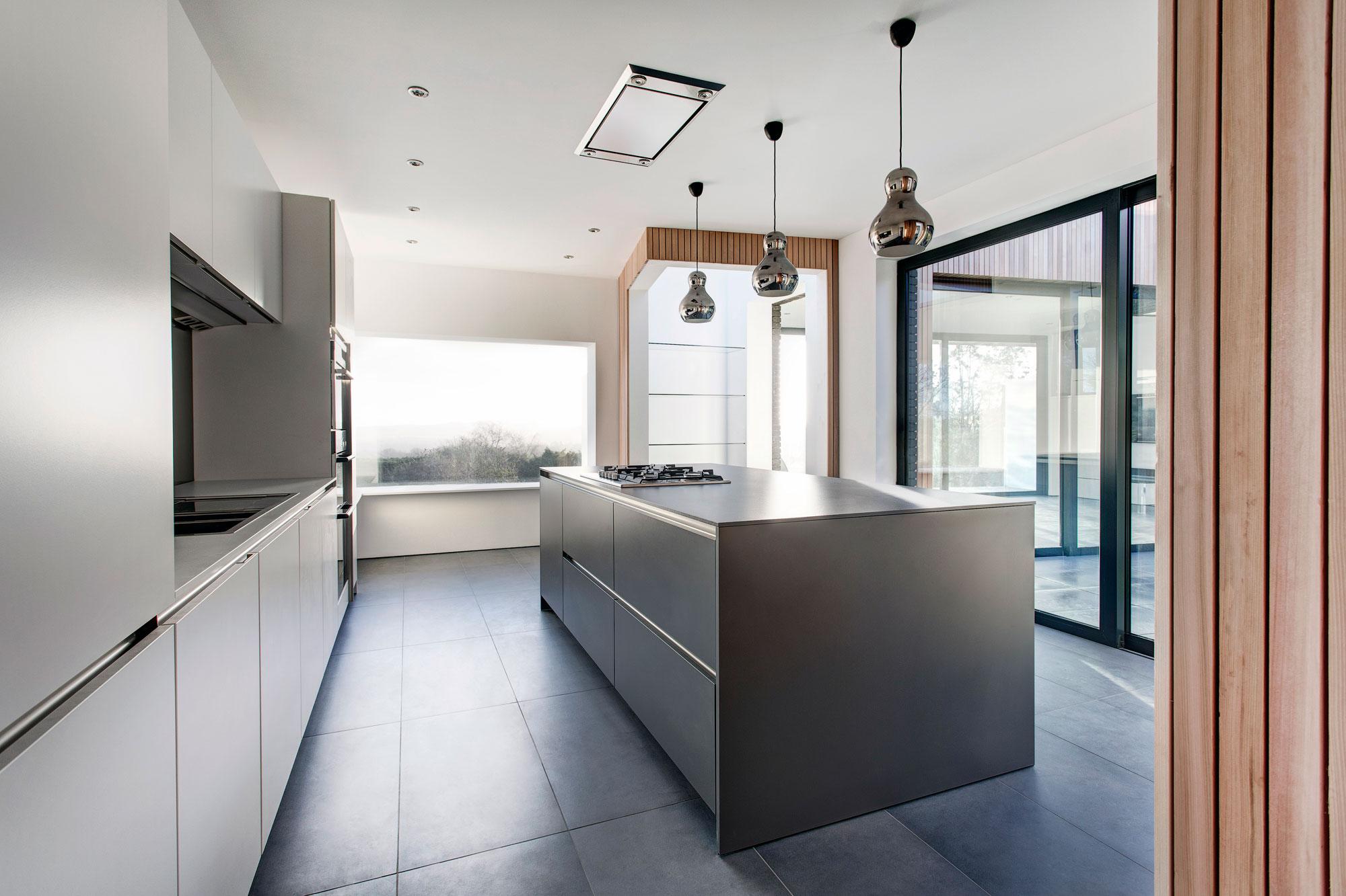 grey kitchen island home depot lights pendant lighting modern in hampshire england