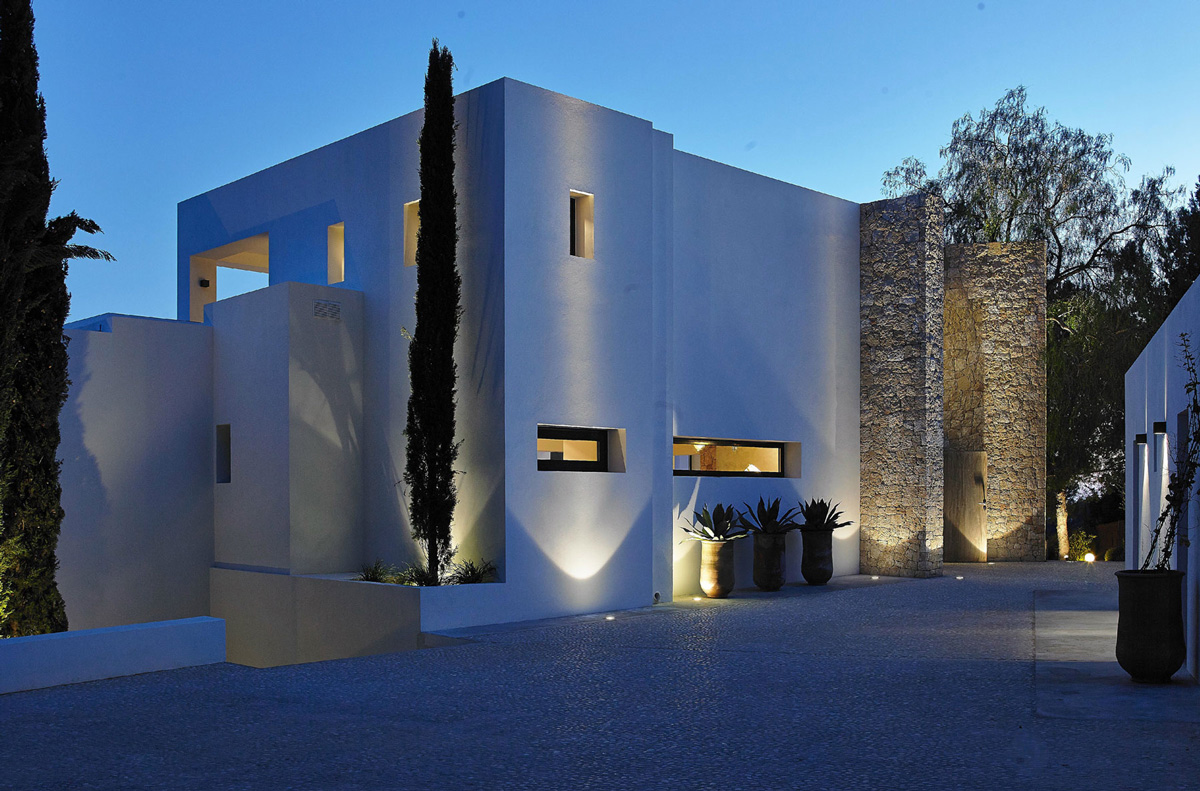 Modern Villa With Spectacular Sea Views In Ibiza Spain