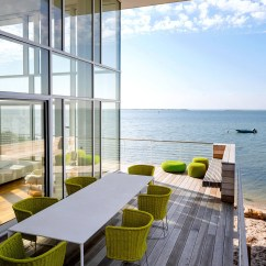 Industrial Kitchen Table Victorinox Knife Fire Island House By Richard Meier
