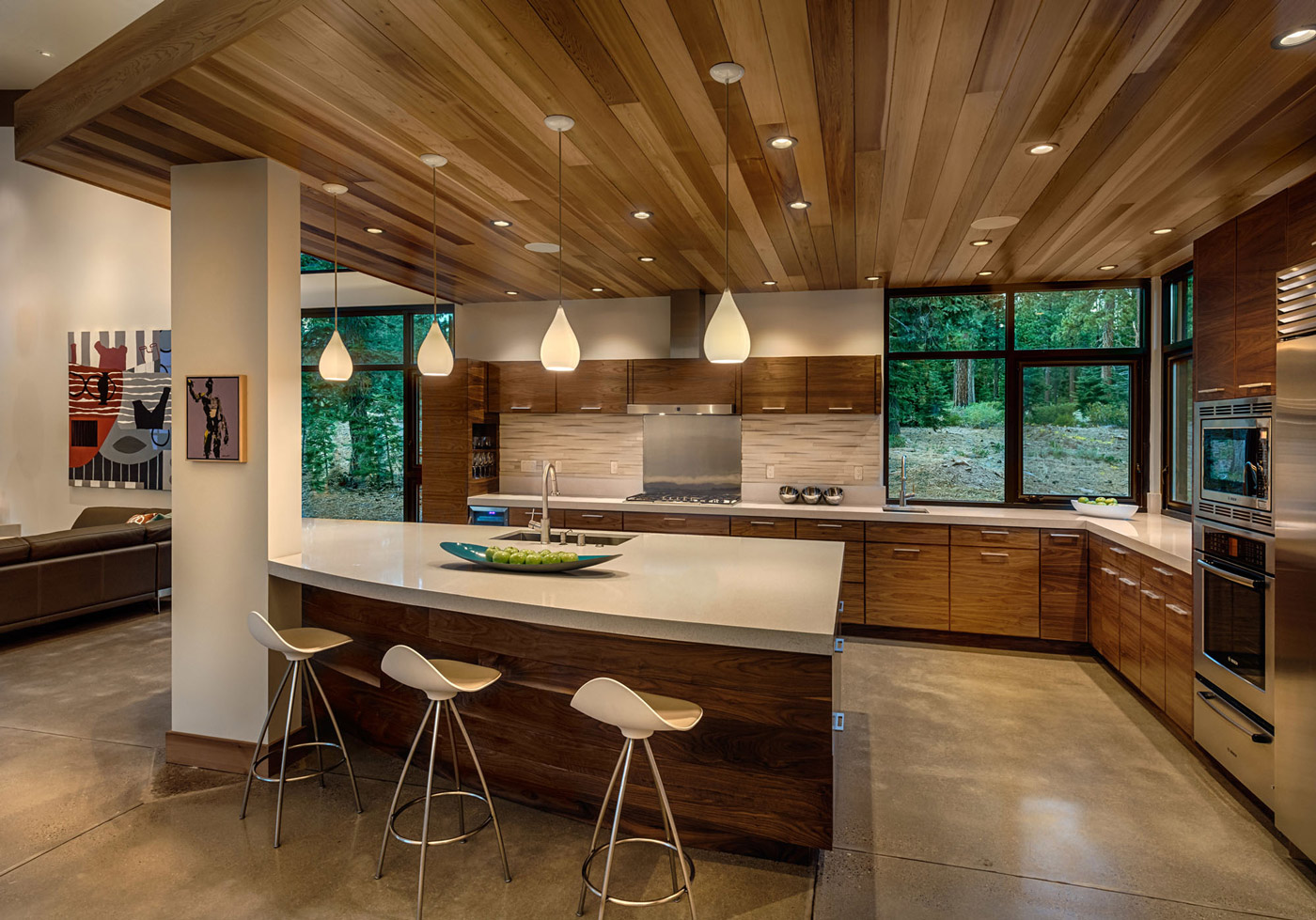 kitchen cabinets sacramento stainless steel single bowl sink modern mountain home in truckee
