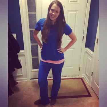 e6764a2b392 Me in the Infinity Antimicrobial Round Neck Scrub Top + Matching Low Rise  Slim-Fit Scrub Pants