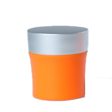 Zabe Orange 50ml with cap - Acrylic Jars - Plastic Jars