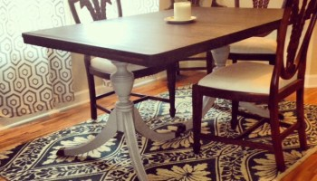 duncan phyfe dining table - fresh vintage nc