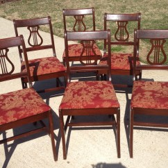 Duncan Phyfe Chairs Rocker Es Game Chair 6 Style Fresh Vintage Nc