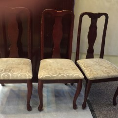 Cherry Wood Chairs Best Ergonomic Chair Under 300 Set Of 3 Vintage Upholstered Fresh Nc