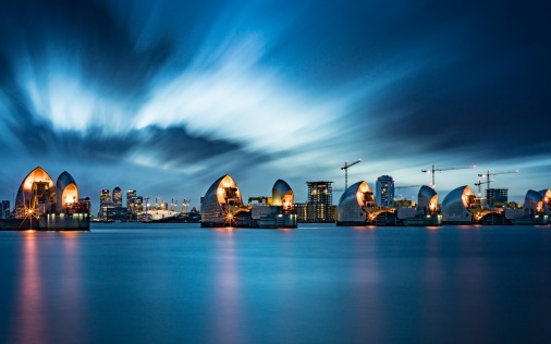 Hd Wallpapers 1080p Nature 3d Thames Barrier In London Wallpapers