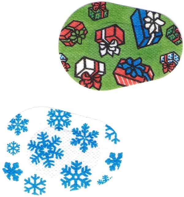 Myi Occlusion Eyes Patches - Winter Design -junior Size Fresnel Prism Lens