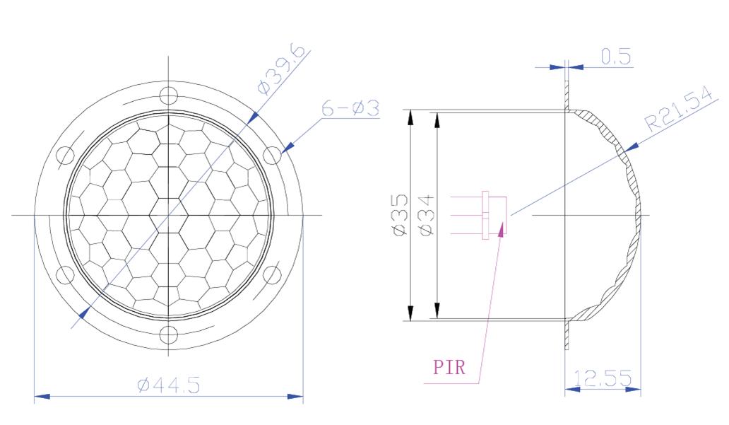 PIR :: PIR Flat Fresnel Lens :: pir sensor module lens