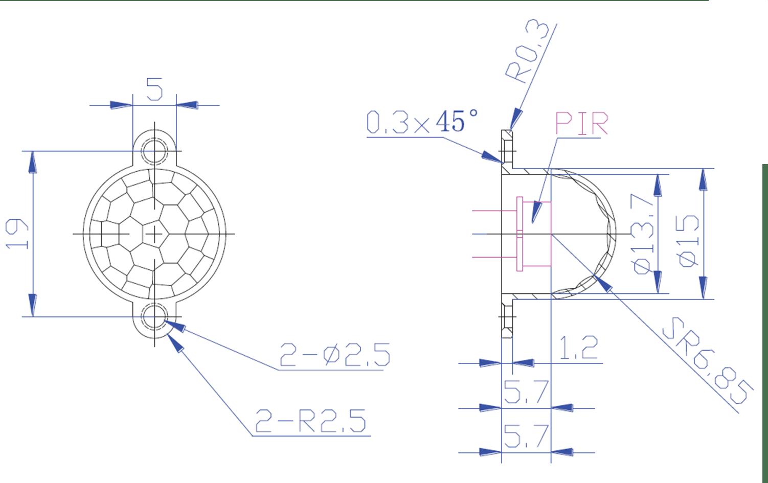 12 Vdc Motion Sensor