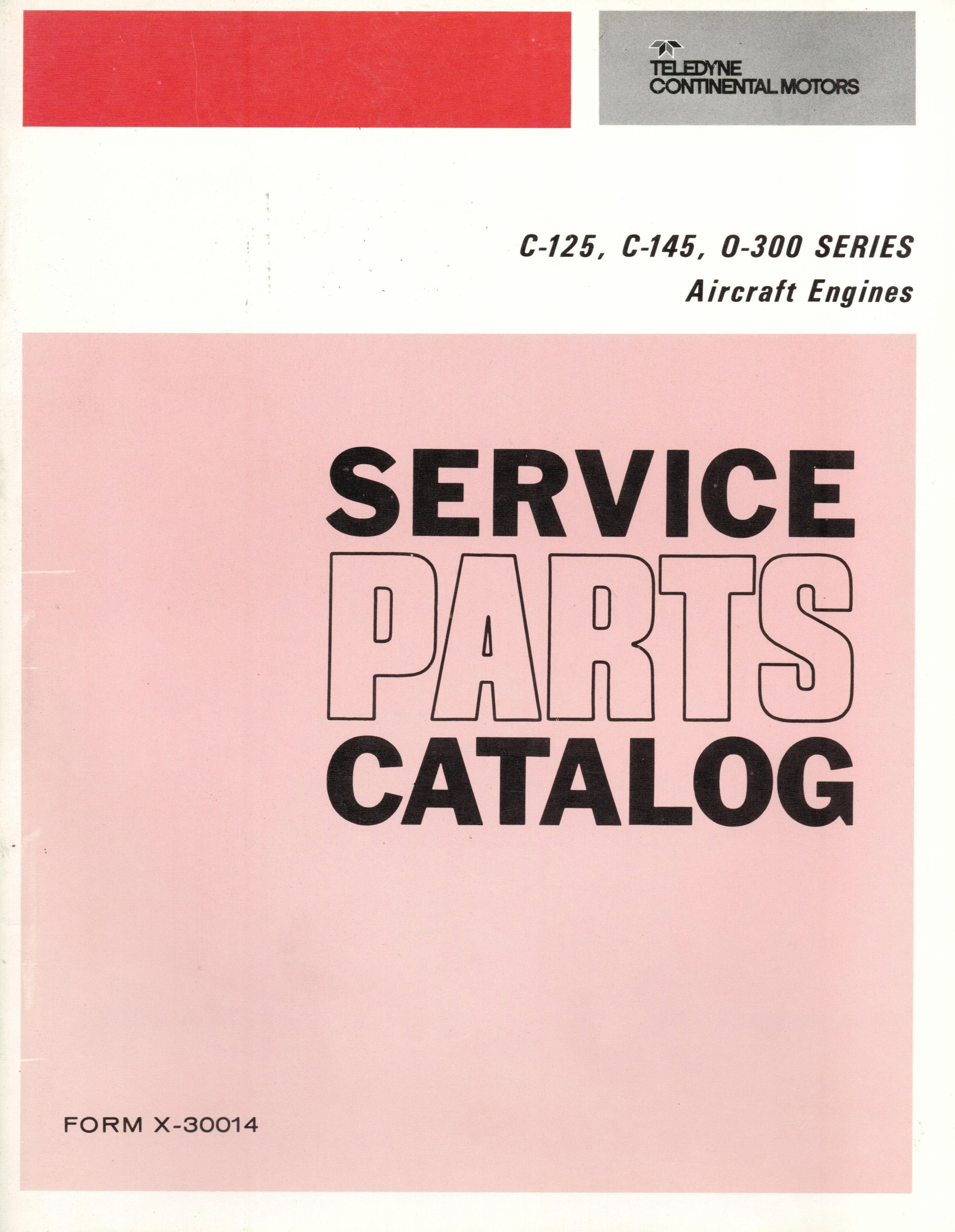 X-30014 Manual, Service Parts - Fresno Airparts Co