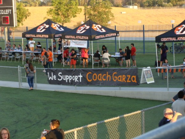 Showing their support for Coach Garza