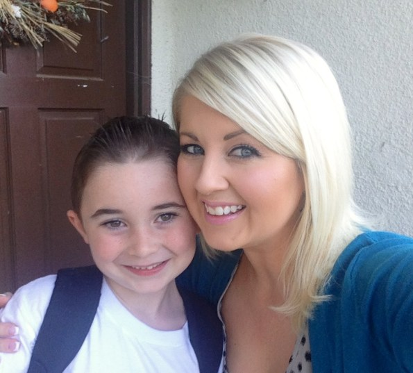 Kiddo and I, first day of school last year