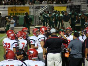 Fowler in a timeout huddle