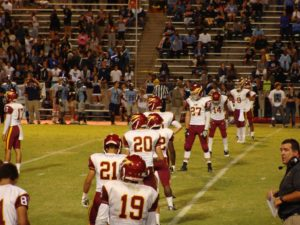 Clovis West in Kickoff formation
