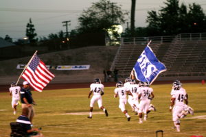 The Drillers taking the field with pride.