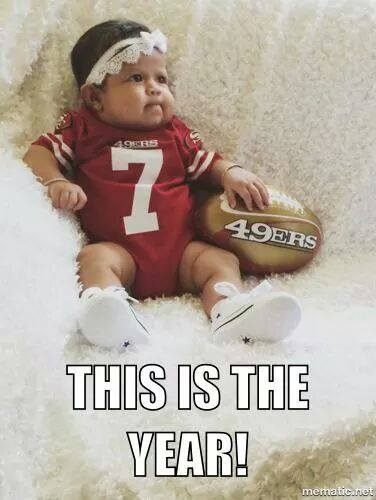 Baby watching her first 49ers game!