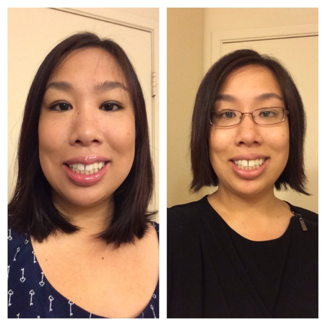 Before and after my haircut.