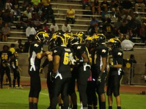 Edison's Offense in huddle