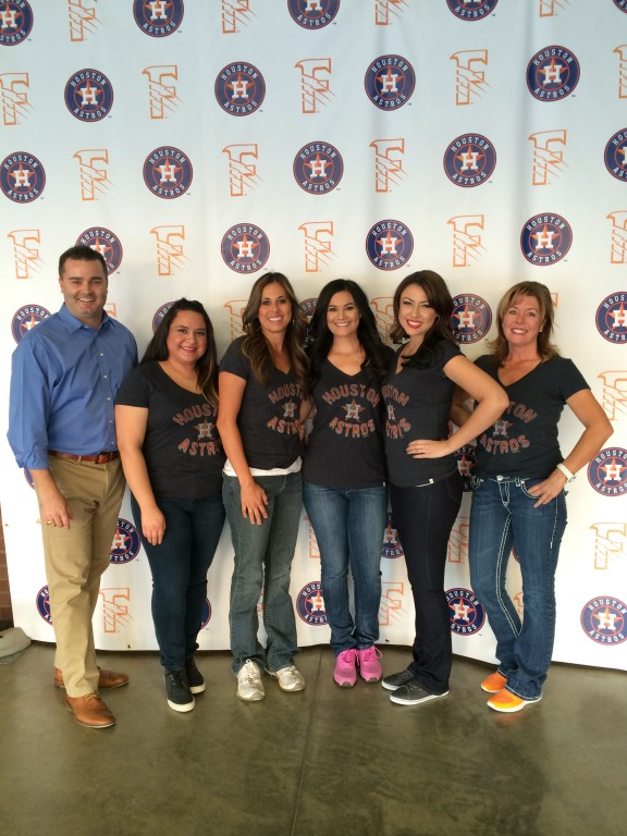 The staff from Jared W. Mosley, D.D.S. (the dental team for the Fresno Grizzlies) showed their support for the Astros on Thursday night.
