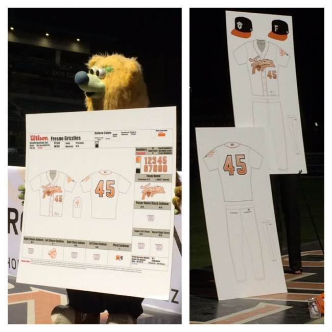 The new Fresno Grizzlies jersey design