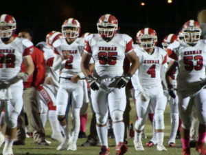 Andrew Quintero with the Kerman Offense