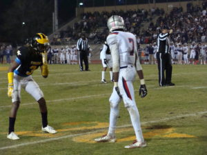 Braylin Scott lined up at wide receiver