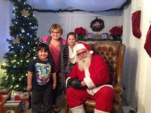 Santa at Zoo Lights