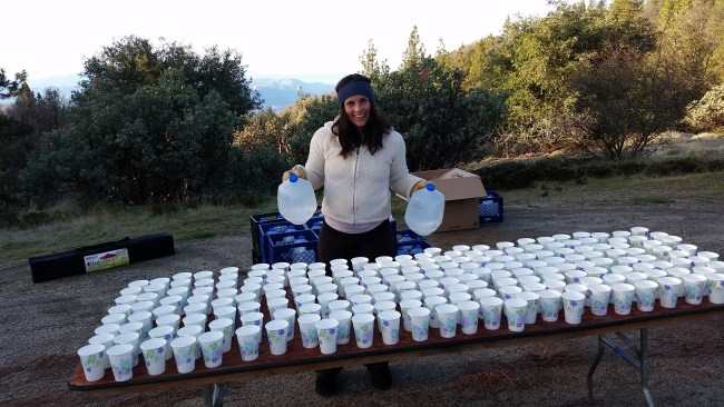ready to hand out water