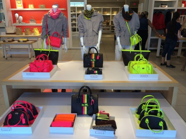 New arrivals at the Coach outlet store.