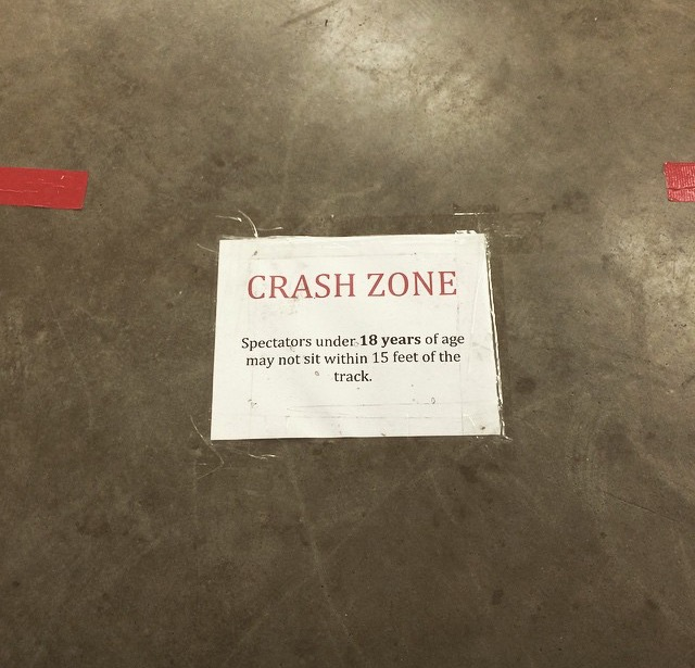 Only the adults can sit in the Crash Zone.