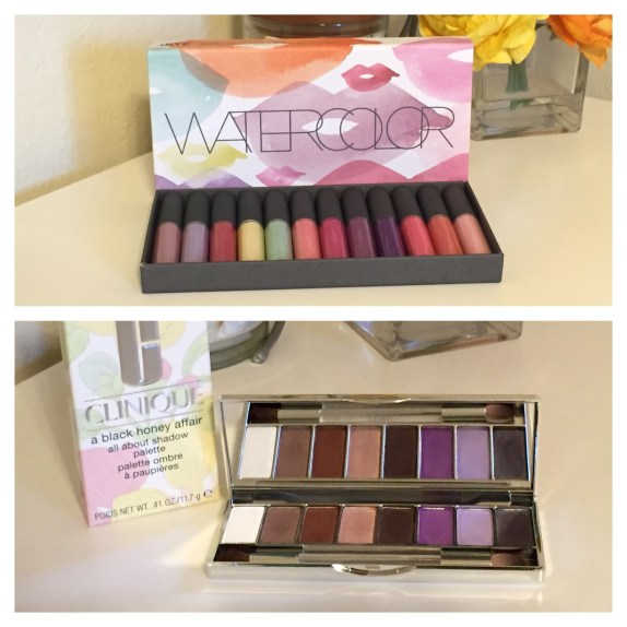 The Bite Beauty Watercolor collection (top) and Clinique eye shadow palette (bottom) make great gifts!
