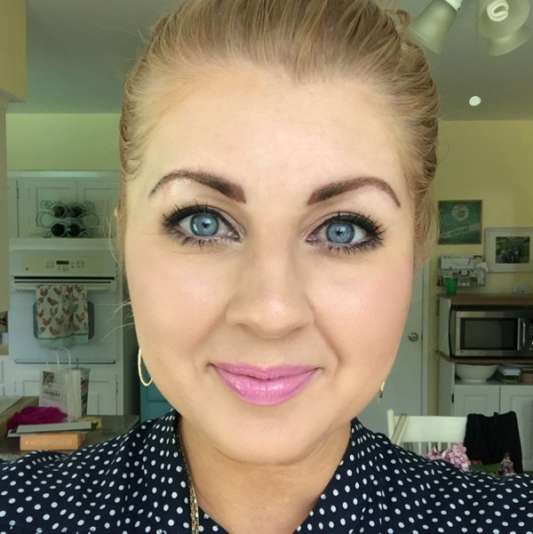 My brows immediately after the initial procedure (and with foundation wiped away from the area, so they look even bolder in this image)