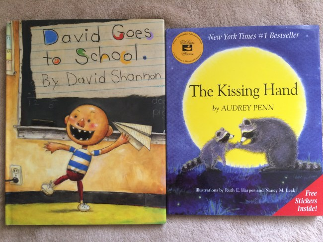 David Goes to School is one of my son's favorite back to school books, along with The Kissing Hand.