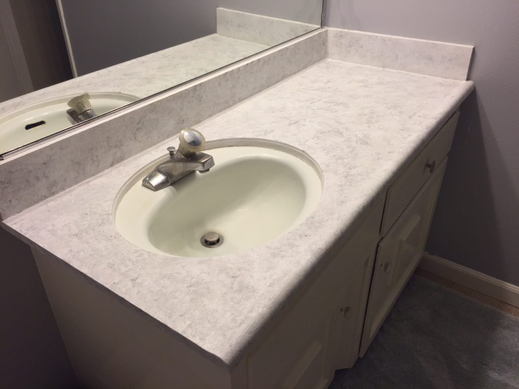 bathroom counter finished