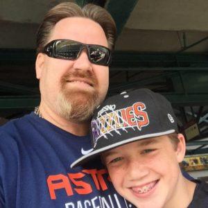 David Noblett and his son Rhett