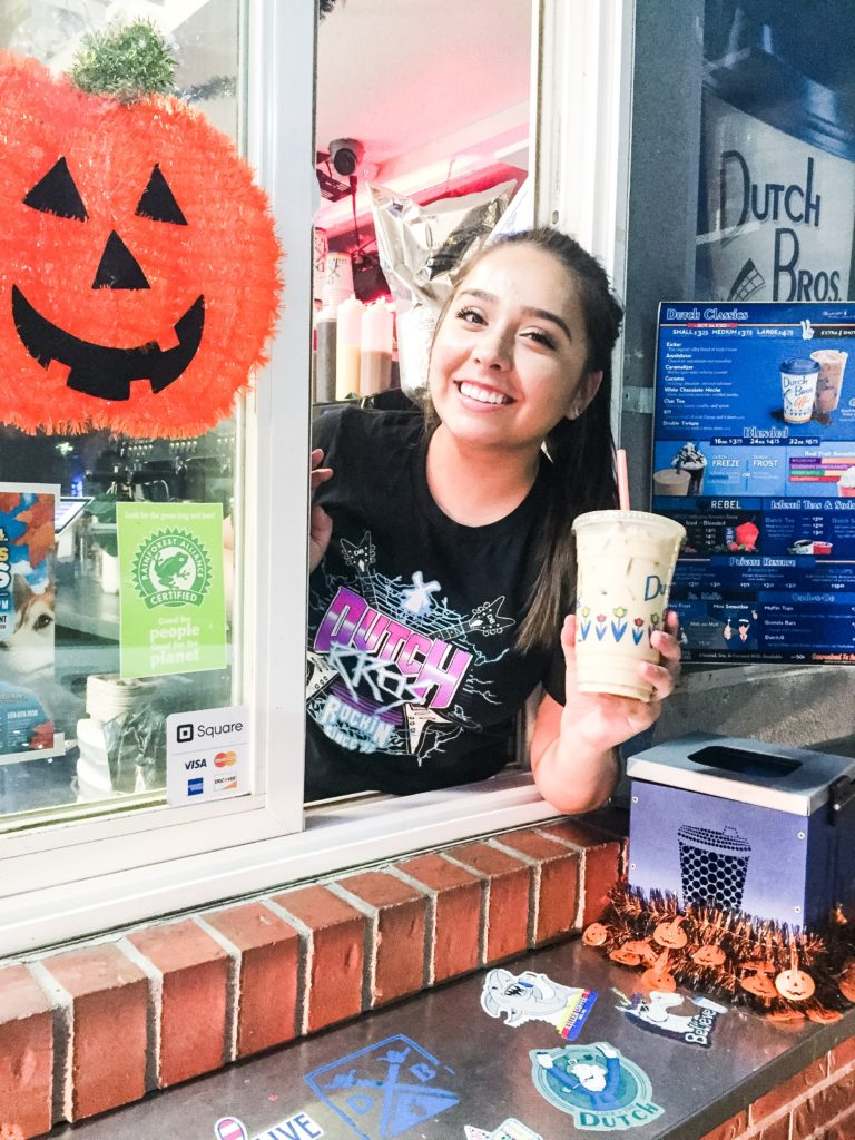 """This is Anessa. She hands me an iced """"Kicker"""" with a smile!"""