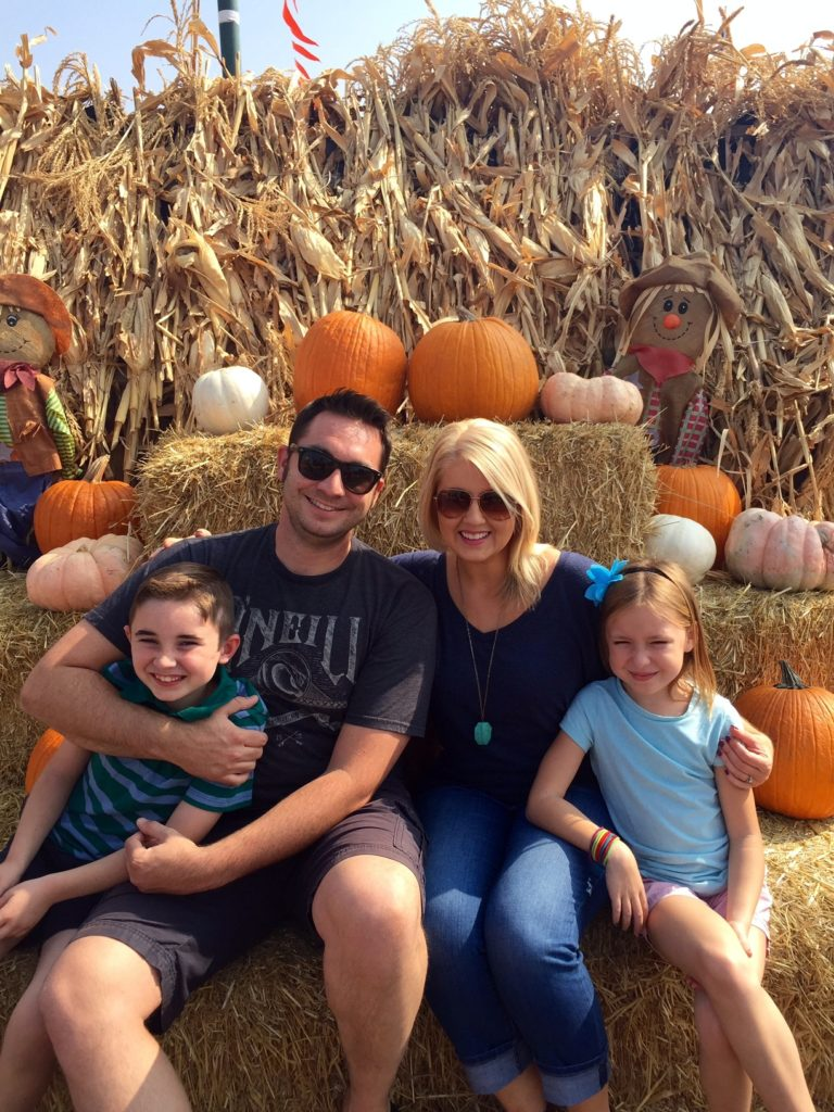 Our family at Simonian Farms Pumpkin Patch