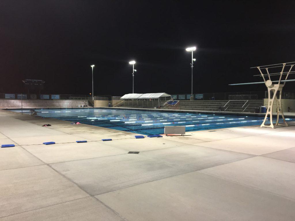 State of the art pool at Bullard High School Aquatics Complex