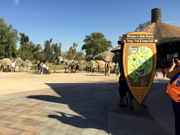 Just past the entrance to African Adventure and the cheetah exhibit, you'll see a fork in your path and a directory leading you to the trail of your choice.