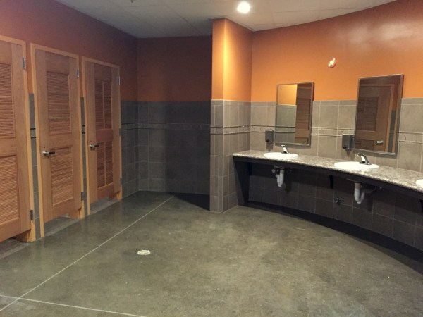 Clean, well-appointed restrooms (because I know some of you wonder about these things!)