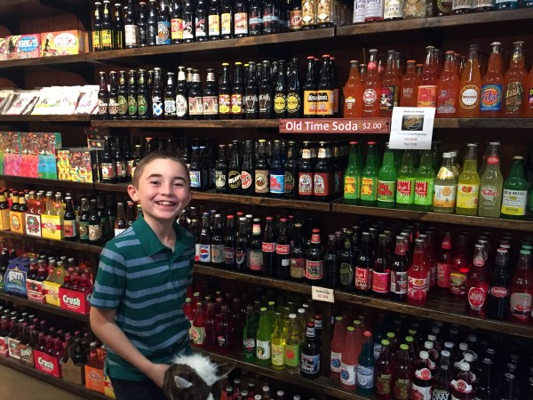 Hundreds of old-fashioned sodas to choose from