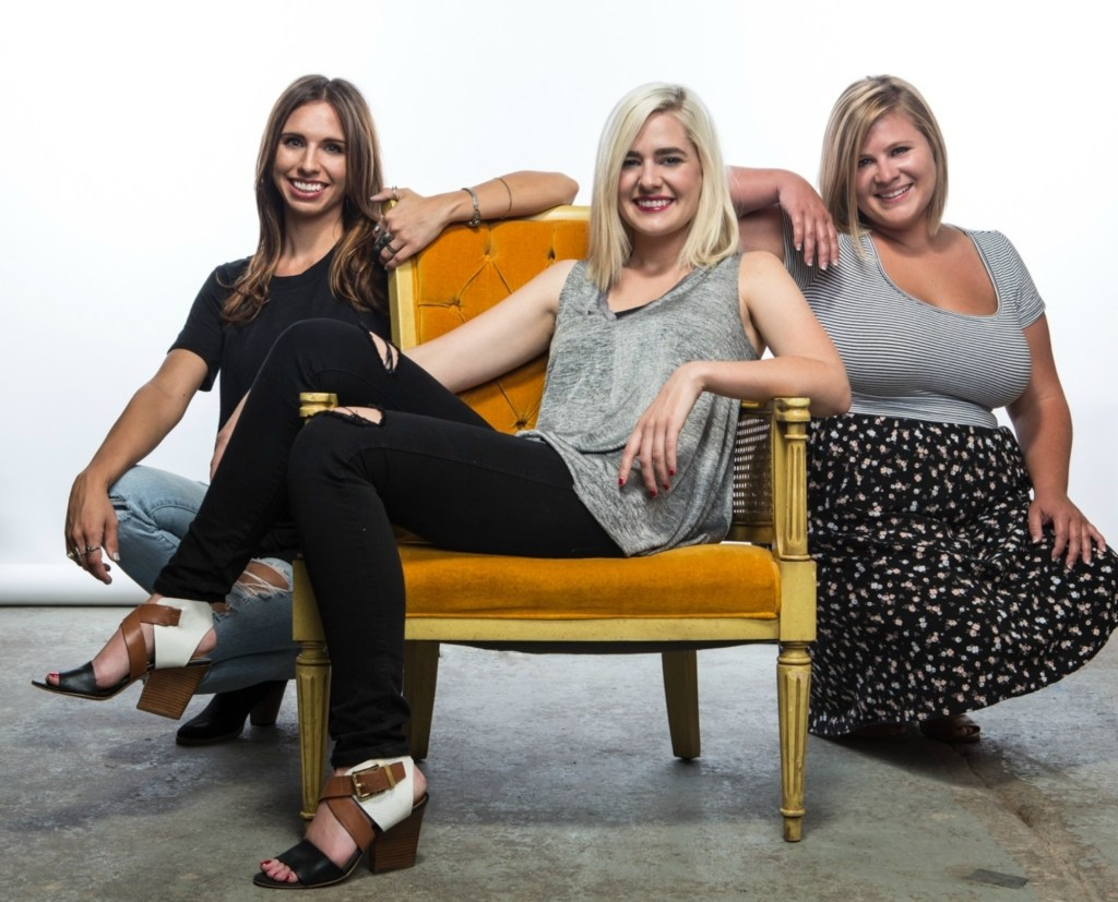 From left, Clovis native Melissa Sievers, Jordan Harshman and Audrey Johnston of The Beauty Clause.