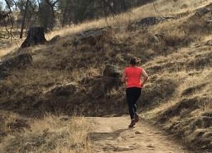 Running up Pincushion Peak Trail