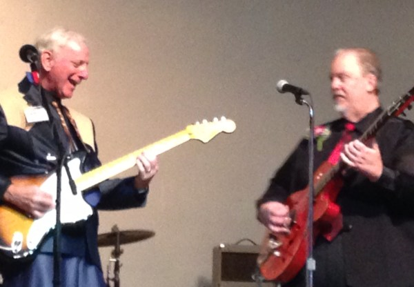 Richie Blue and Roger Perry duel it up at the Bakersfield CMAs