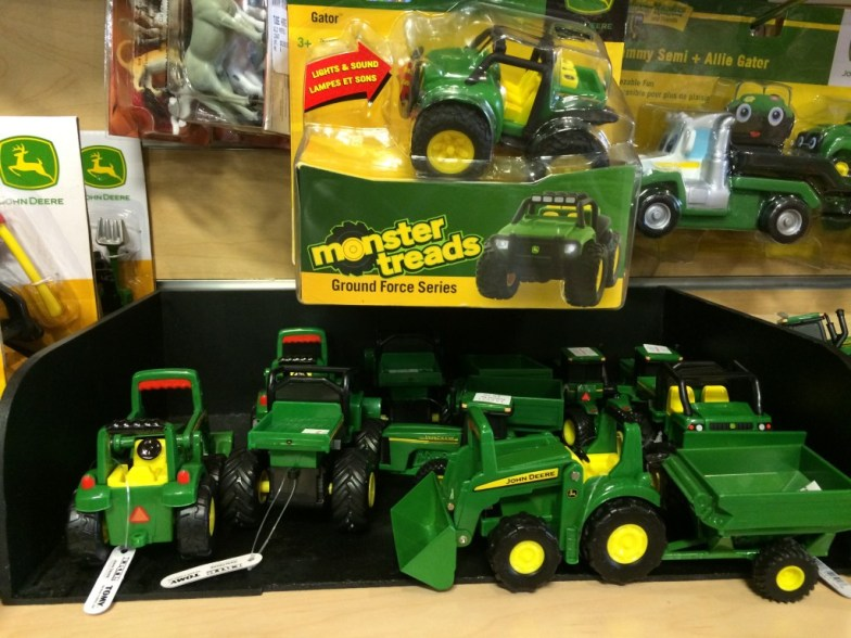 tractor toys at Professor Toy in the Villagio Shopping Center