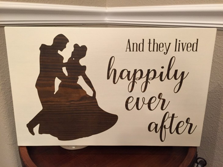 Happily ever after sign from  Anchor and soul crafts signs
