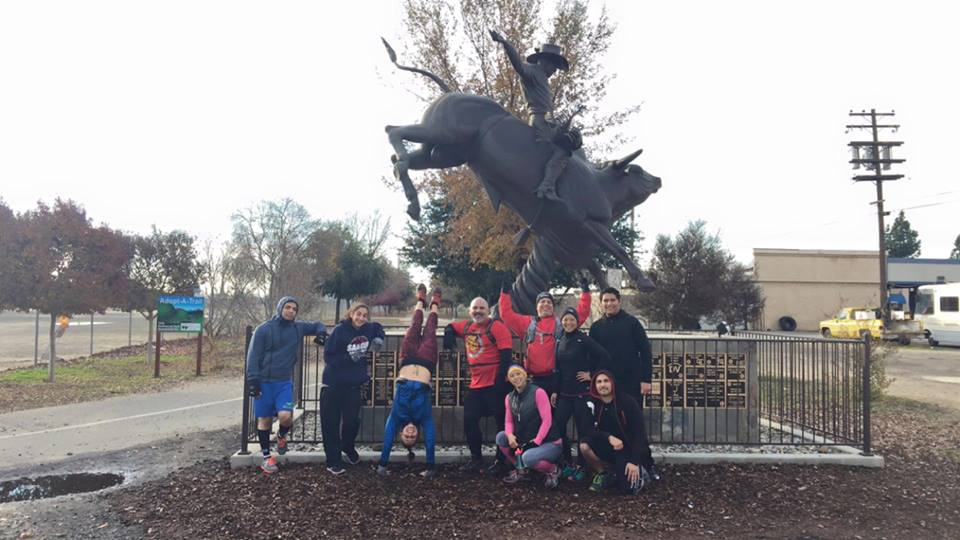 Central Valley Spartan Athletes after a CVSA run