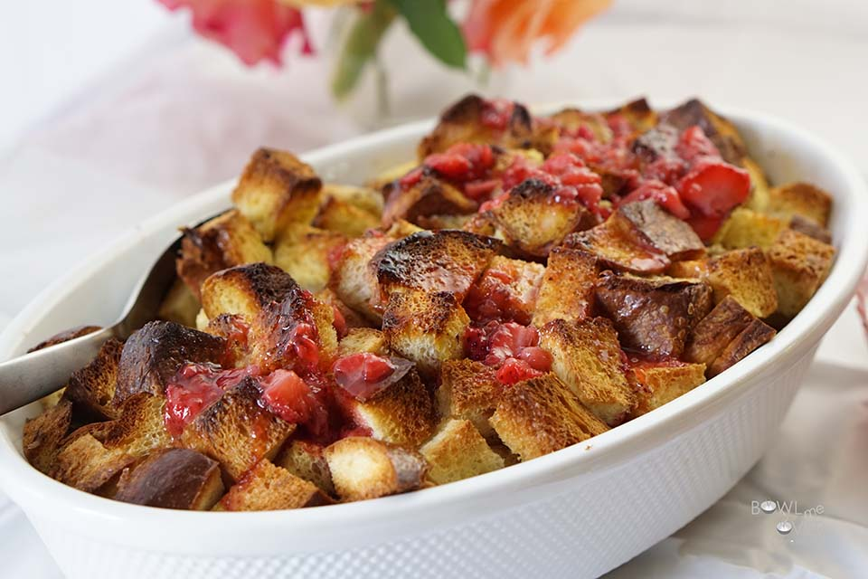 Baked French Toast with Strawberry Jam