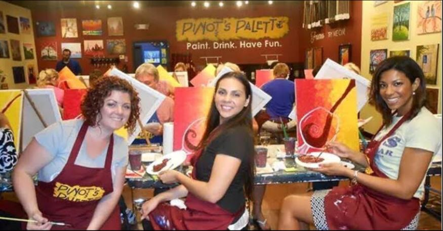 painting at Pinot's Palette
